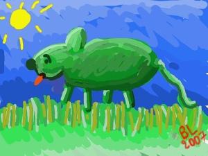 Vous avez déjà vu une souris verte?