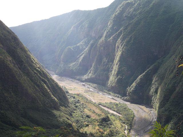 La rivière des galets depuis la canalisation des orangers