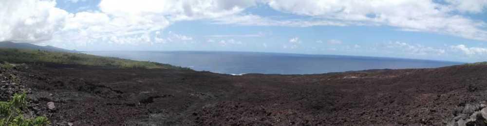 Les coulées de lave à la Réunion sont présentes dans l'est et le sud