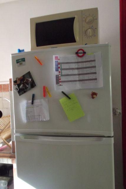 Le frigo, mon post-it géant grâce auquel je n'ai pas loupé ma réunion!