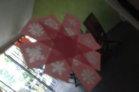 Autre déco de Noël sur les vitres à base masking tape