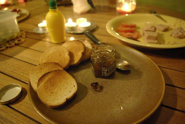 L'entrée: un classique, le foie gras
