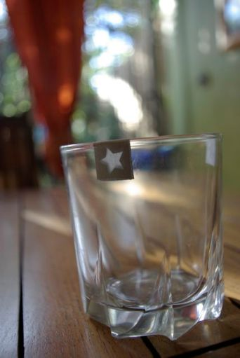 Du masking tape sur les verres