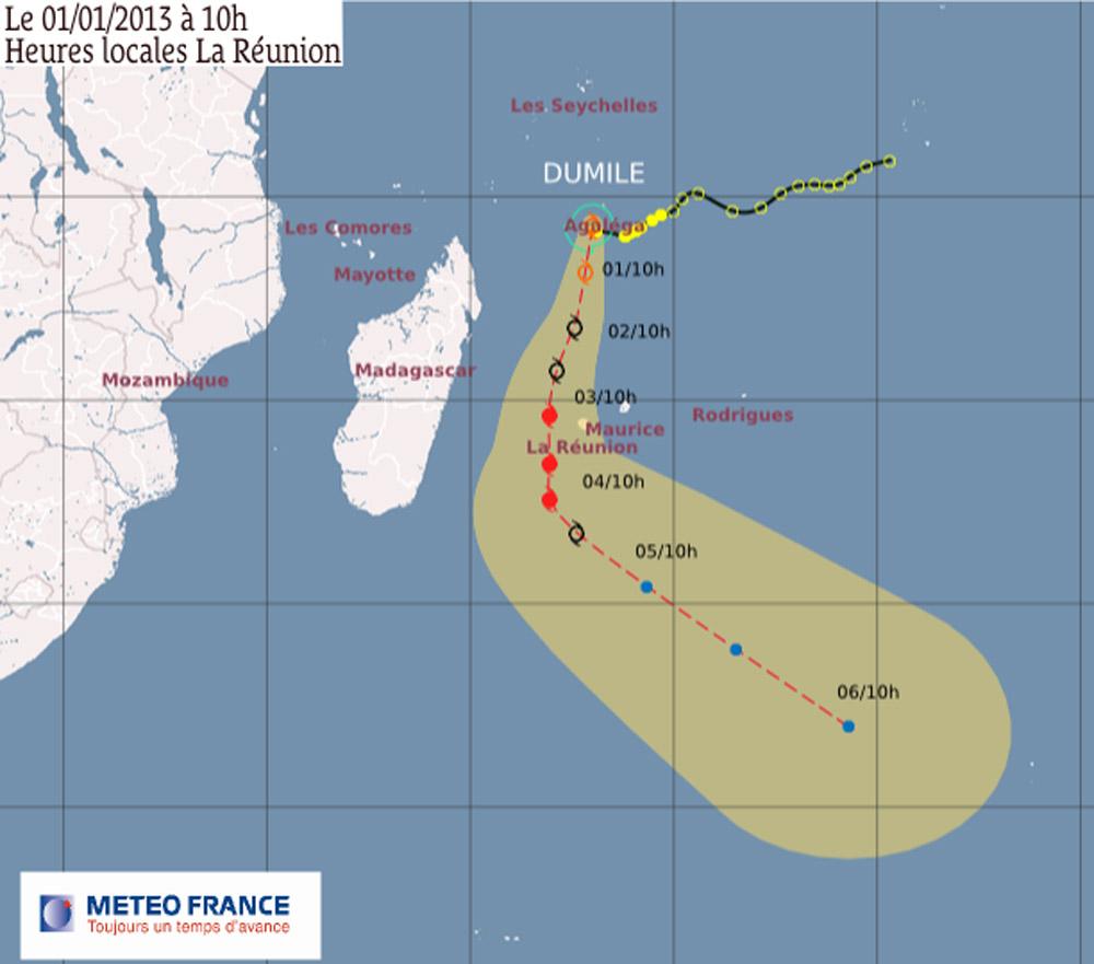 Dumile et sa trajectoire au 1er janvier 2012