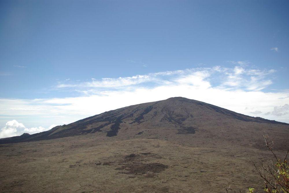 La vue sur le volcan de la Fournaise quand c'est bien dégagé.
