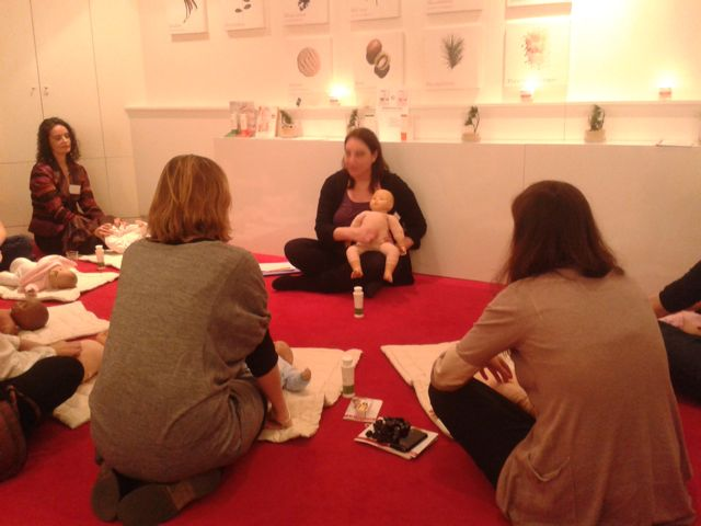 mumtobeparty, atelier massage en cours