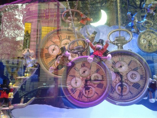 vitrines noel paris galeries Lafayettes