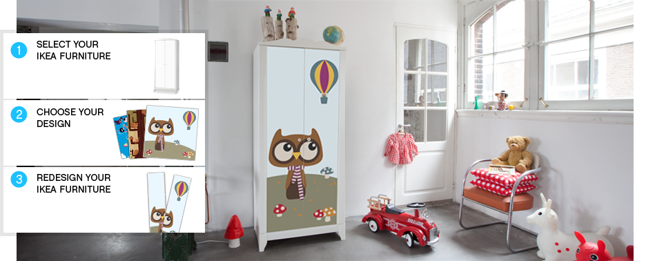 Changer sa chambre sans se ruiner on bouge les meubles et on colle working girl to working mum - Stickers ikea meuble ...