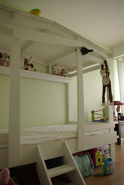 voici son lit de grande achat du lit cabane d alinea working girl to working mum. Black Bedroom Furniture Sets. Home Design Ideas
