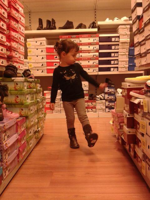 ma fille choisit ses bottes