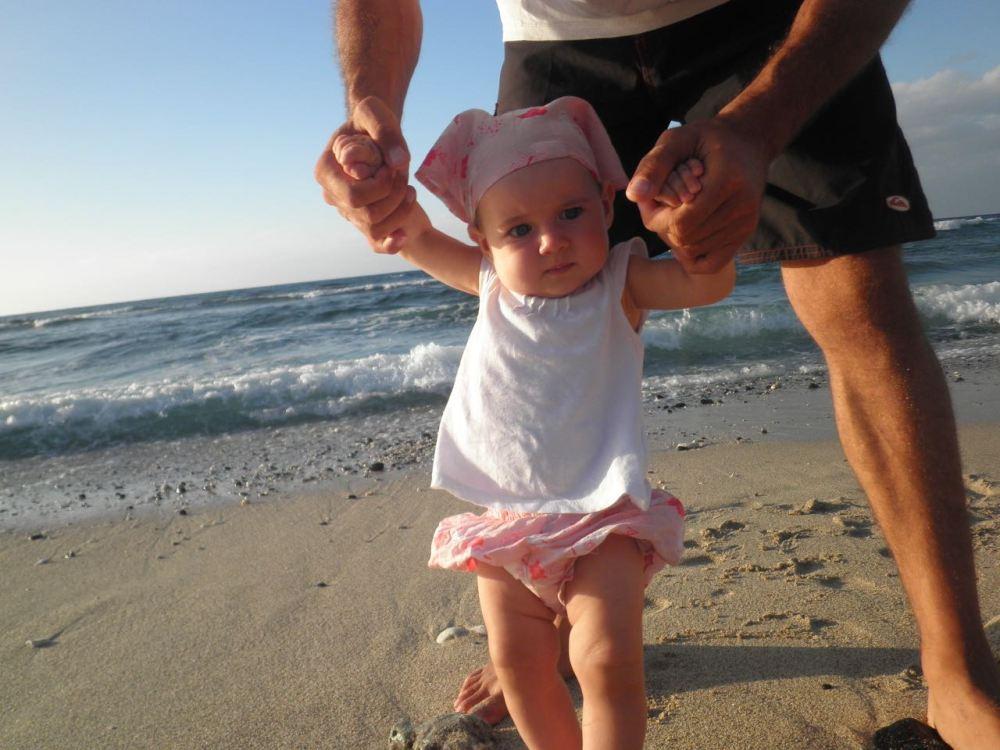 Premiers pas sur la plage de la réunion Boucan Canot