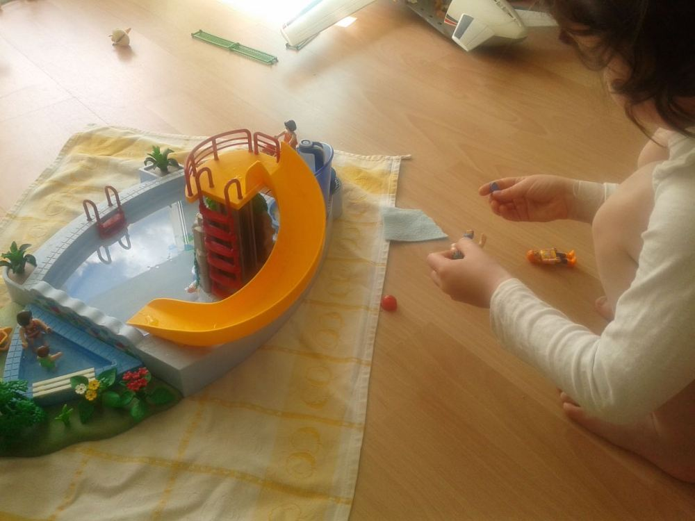 playmobil piscine