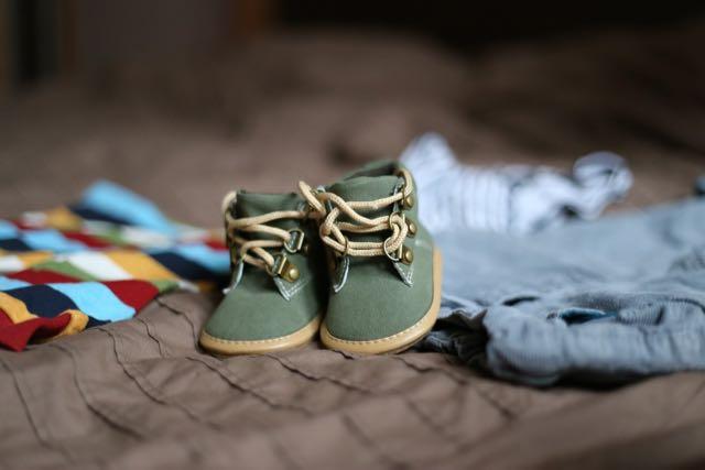 babyshower chaussures bébé vertes