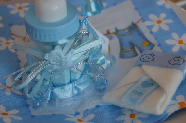babyshower biberon garçon bleu