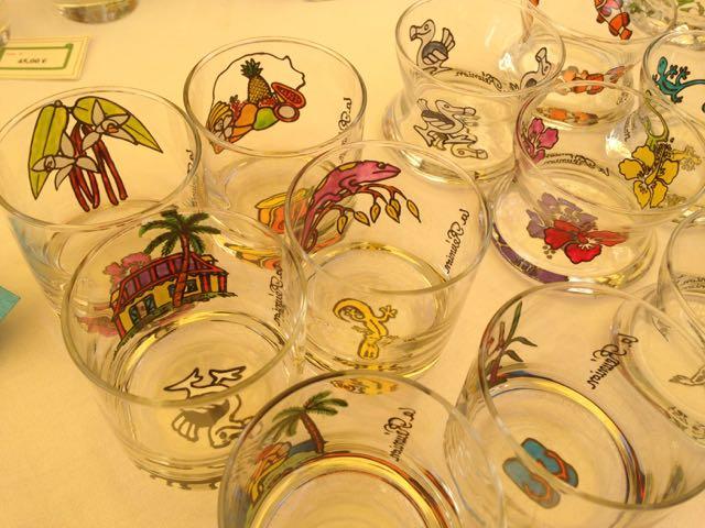 marche-saintpaulreunion - verre artisanat peinture sur verre