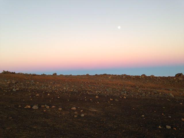 La lune qui s'en va !